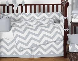 Gray And White Chevron Crib Bedding Sweet Jojo Designs 9 Gray And White Chevron