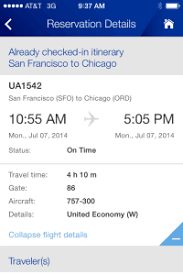 United Airlines Luggage Fees United U0027s Iphone App United Airlines Flight Change For Free