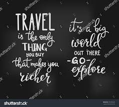 travel inspiration quotes lettering stock vector 391586608