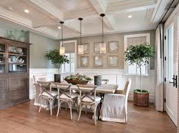 cushioned dining room chairs beach style dining room by brandon