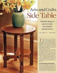 art and crafts side table plans u2022 woodarchivist