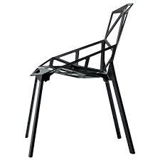 magis sedie magis sedia chair one nera gambe in alluminio verniciate