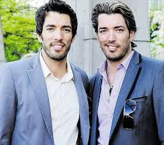 The Property Brothers Brothers Drew Left And John Scott Lip Sync In The Like A Rolling