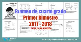 examen montenegro 3 grado primaria examen de cuarto grado primer bimestre 2017 2018 hoja de