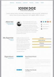About Myself Resume 50 Best Html Resume Cv Vcard Templates 2017 Freshdesignweb