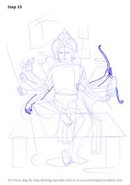 learn how to draw durga maa hinduism step by step drawing
