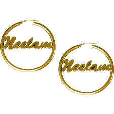 Personalized Name Earrings Fashion Red Carpet With Personalized Name Hoop Earrings Earring