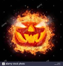 halloween photo background halloween pumpkin with fire flames isolated on black background
