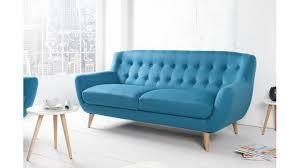 canapé tissu canapé tissu 3 places tekla bleu un beau canapé en tissu et pin