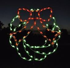 lighted poinsettia outdoor display for