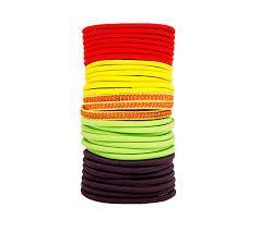 goody hair ties goody ouchless elastic hair ties assorted neon attitude colors