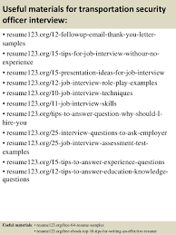 Security Resume Samples by Top 8 Transportation Security Officer Resume Samples