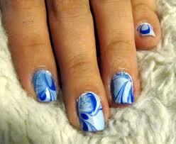 blue and light blue nail marble eyemasq