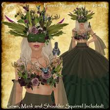 masquerade dresses and masks second marketplace forest nymph gown set druid dress mask