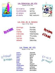 27 best seasons in spanish images on pinterest spanish classroom