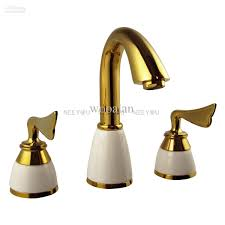 2017 basin faucet brass with ceramic bathroom mixer titanium gold