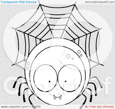 spider web transparent background cartoon clipart of a black and white spider character vector