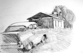 william porter fine art sketches cars trucks tractors