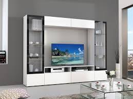 meuble tv avec bureau meuble tv mural avec led blanc