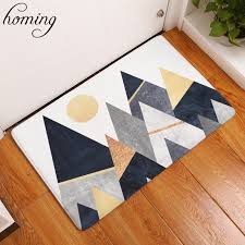 Modern Hallway Rugs Homing Welcome Home Hallway Door Mats Black White Mountain Pattern