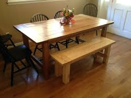 benches rustic dining table with benches farmhouse bench plans