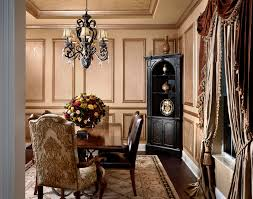 Decorative Wall Frame Moulding Marvelous Corner Curio In Dining Room Traditional With Painted