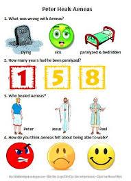 bible fun for kids peter heals aeneas u0026 dorcas