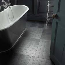 Black Laminate Floor Tiles Bathroom Contemporary Black And White Bathroom Decoration Using