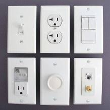 white light switches duplex receptacles combo power outlets