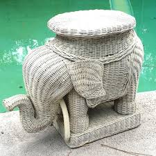 Elephant Side Table Find More Vintage Wicker Elephant Side Table Plant Stand