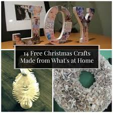 14 free christmas crafts made from what u0027s at home