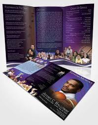 basketball c brochure template 2 page graduated step fold funeral program template brochure