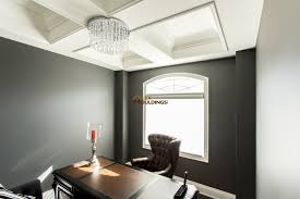 Coffered Ceiling Lighting by Large Beams With Crown Mouldings And Accent Lighting Coffered