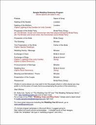 wedding program layout template wedding baptist weddingram wording exleswedding exles with