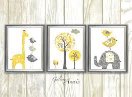 Giraffe Nursery Decor Yellow Gray Nursery Baby Nursery Decor Wall Baby