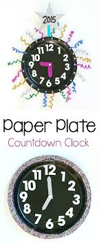 new year s with countdown clock craft using paper plates