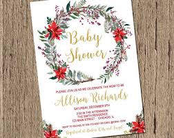 Christmas Baby Shower Invitations - etsy your place to buy and sell all things handmade