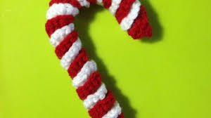 how to crochet a candy cane ornament diy crafts tutorial