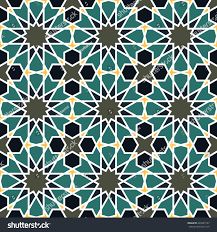 Morroco Style by Seamless Pattern Moroccan Style Mosaic Tile Stock Vector 493987147