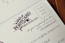 Wedding Postcards Michael Breanna U0027s Antique Book Wedding Invitations