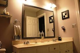 bathroom mirror ideas diy how to diy framing bathroom mirror inspiration home designs