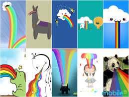 Throwing Up Rainbows Meme - 15 puking rainbow mobile wallpapers for meme mobile9 an app