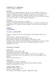 Ses Resume Sample by Camilla Ortner Cv Engelska