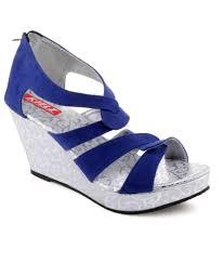 women u0027s footwers kielz pretty blue heeled sandals exclusive