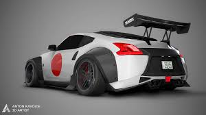 nissan 370z drift wallpaper artstation nissan 370z widebody anton kavousi