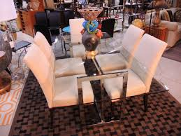 awesome brown wood glass simple design top dining table wonderful