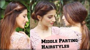 3 cute u0026 easy everyday middle partition hairstyles for