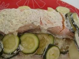 cuisine en papillote papillote de saumon aux courgettes et pommes de terre recette ptitchef