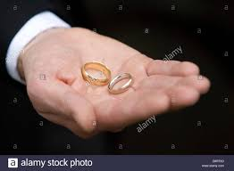 Wedding Ring Hand by Man U0027s Hand With Silver Wedding Ring On Finger Stock Photo Royalty