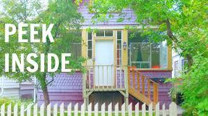 airbnb tiny house tour calgary shotgun house tour youtube